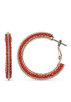 Jules B Gold-Tone Sun Kissed Hoop Earrings
