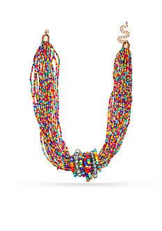 Jules B Gold-Tone Kaleidoscope Strand Necklace