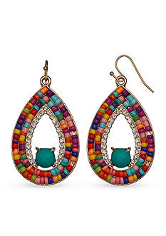 Jules B Gold-Tone Kaleidoscope Teardrop Earrings