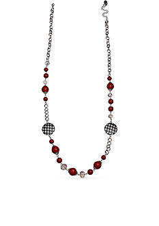 Jules B Silver-Tone Football Spirit Strand Necklace