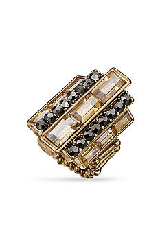 Jules B Gold-Tone Art Deco Stretch Ring
