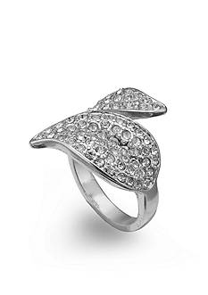 Jules B Rings Pave Crystal Wrap Leaf Size 7