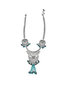 Jules B Silver-Tone Iridescence Turquoise Necklace