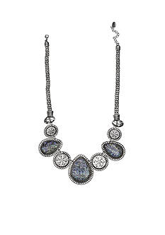 Jules B Silver-Tone Iridescence Statement Necklace