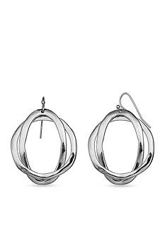 Jules B Silver-Tone Statue of Liberty Round Oval Drop Earrings