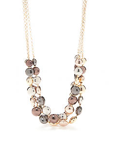 Kim Rogers Tri-Tone Metal Fab Multistrand Necklace