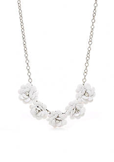 Kim Rogers Silver-Tone Fresh Blossoms Statement Necklace