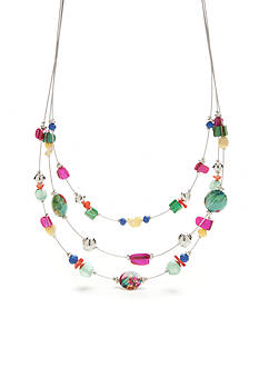 Kim Rogers Silver-Tone Paradiso Illusion Necklace