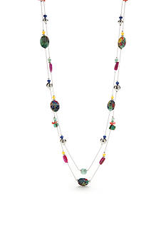 Kim Rogers Silver-Tone Paradiso Long Necklace
