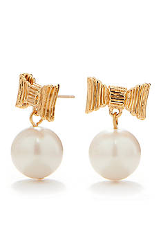 kate spade new york All Wrapped Up Pearl Earrings