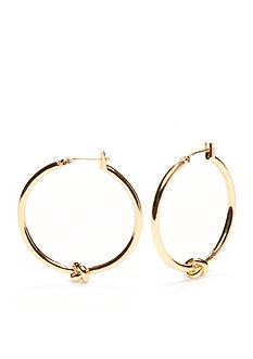 kate spade new york Gold-Tone Knot Hoop Earrings