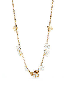 kate spade new york Pansy Blossoms Short Scatter Necklace