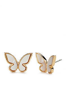 kate spade new york All A Flutter Mother Of Pearl Stud Earrings