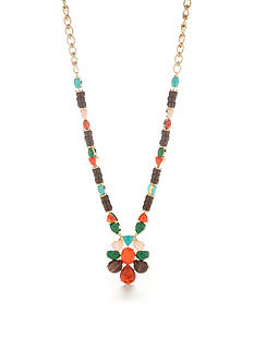 kate spade new york Beaded Statement Pendant Necklace