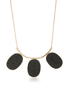 kate spade new york Do Wonders Black Pave Statement Necklace