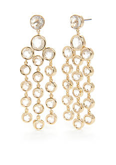 kate spade new york Subtle Sparkle Clear Chandelier Earrings
