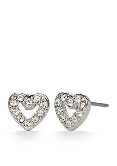 kate spade new york Pave Open Heart Stud Earrings
