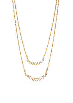 kate spade new york Dainty Sparklers Layered Necklace