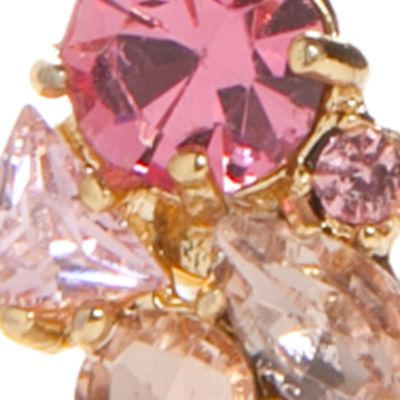 Designer Earrings: Pink kate spade new york Dainty Sparklers Cluster Front and Back Earrings