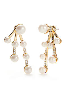 kate spade new york Purely Pearly Front To Back Earrings