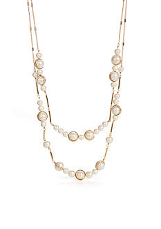 kate spade new york Purely Pearly Double Strand Necklace