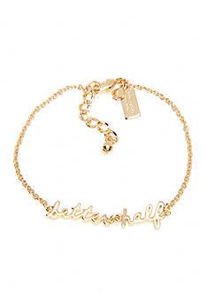 kate spade new york Gold-Tone Better Half Bracelet