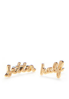 kate spade new york Gold-Tone Better Half Stud Earrings