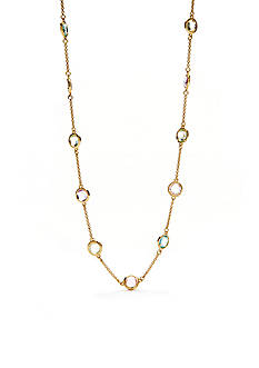 kate spade new york Long Multicolored Scatter Necklace