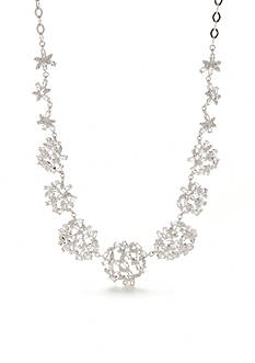 kate spade new york Silver-Tone Crystal Ivy Collar Necklace
