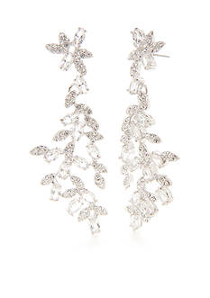 kate spade new york Silver-Tone Crystal Ivy Linear Earrings