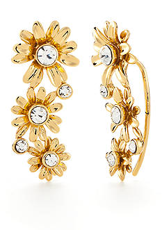 kate spade new york Gold-Tone Dazzling Daisies Ear Crawler Earrings