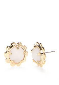 kate spade new york Scalloped Edge Gold-Tone Stud Earrings