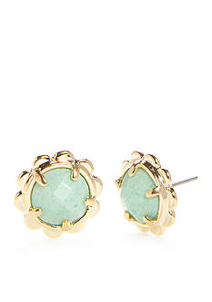 kate spade new york Scalloped Edge Gold-Tone Stud Earrings