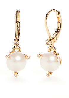 kate spade new york Gold-Tone Lever Back Earrings