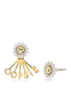 kate spade new york Gold-Tone Say Yes Oopsie Daisy Ear Jacket Earrings