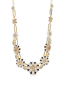 kate spade new york Gold-Tone Shadow Blossoms Statement Necklace