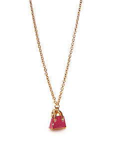 kate spade new york Gold-Tone Purse Charm Necklace