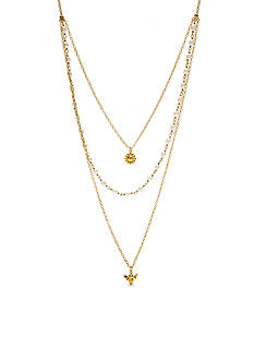 kate spade new york Gold-Tone Delicate Triple Strand Necklace