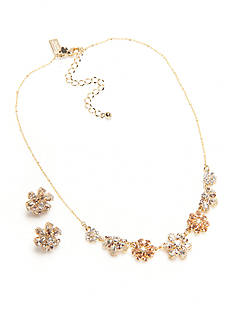 kate spade new york Gold-Tone Mom Knows Best Floral Collar Necklace and Button Earrings Boxed Set