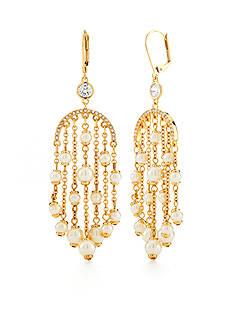 kate spade new york Gold-Tone Pearls of Wisdom Chandelier Earrings