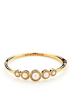 kate spade new york Gold-Tone Pearls of Wisdom Bangle Bracelet