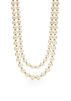 kate spade new york Gold-Tone Pearls of Wisdom Multistrand Nekclace