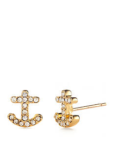 kate spade new york Gold-Tone Anchors Away Stud Earrings