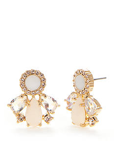 kate spade new york Gold-Tone At First Blush Button Earrings