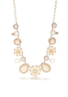 kate spade new york Gold-Tone At First Blush Statement Necklace
