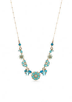 kate spade new york Gold-Tone Azure Allure Small Statement Necklace