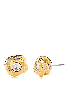 kate spade new york Gold-Tone Infinity and Beyond Knot Stud Earrings