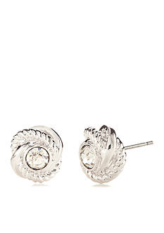 kate spade new york Silver-Tone Infinity and Beyond Knot Stud Earrings