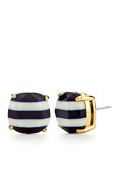 kate spade new york Gold-Tone Striped Small Square Earring Studs