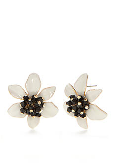 kate spade new york Gold-Tone Lovely Lillies Button Earrings